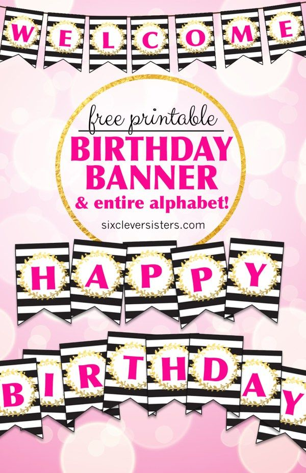 Free Printable Birthday Banner Happy Diy Letters Alphabet Also Archives Karen Cookie Jar Rh