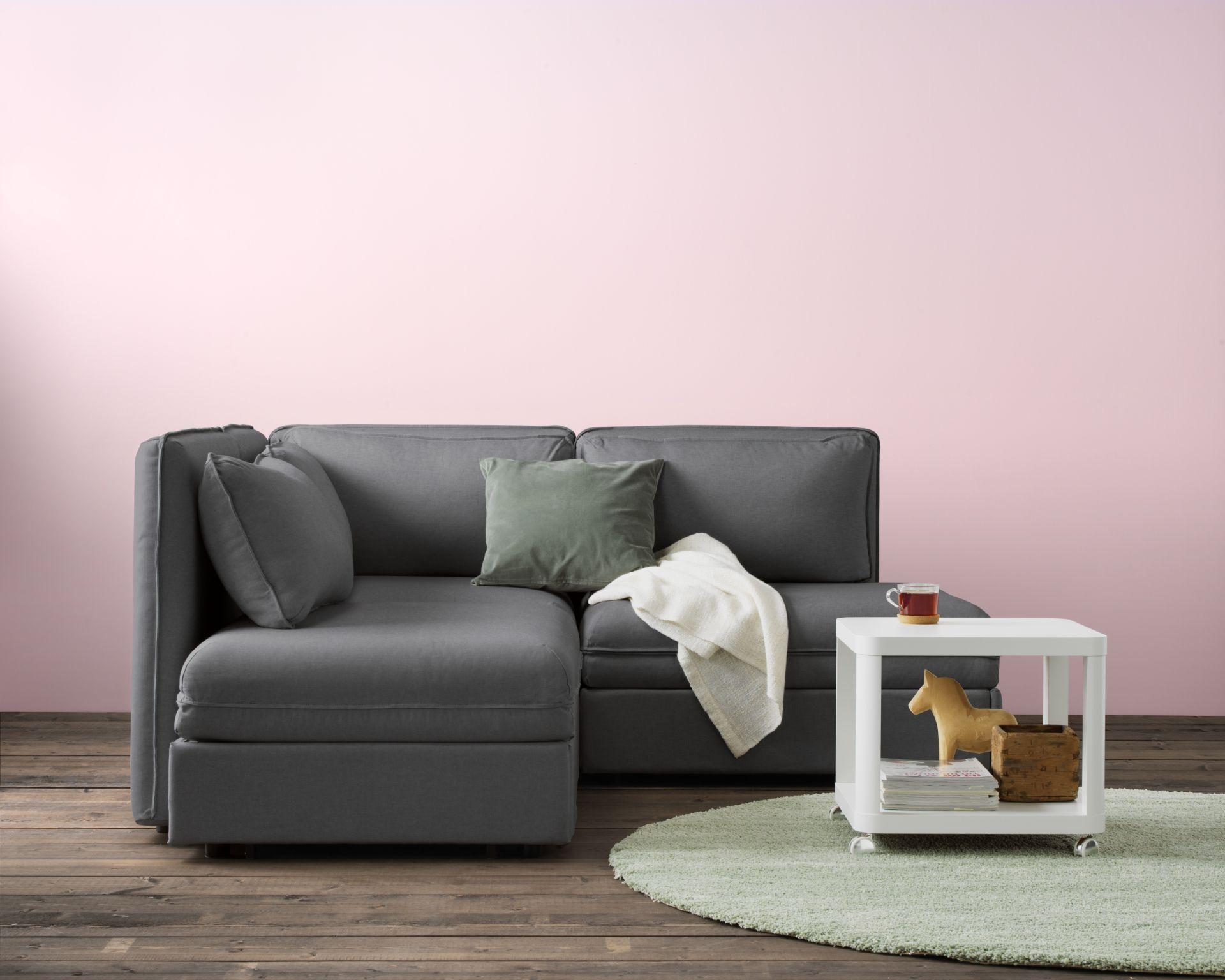 Ikea Woonkamer Hoekbanken : Vallentuna 3 zits hoekbank met bed orrsta lichtgrijs in 2018 home