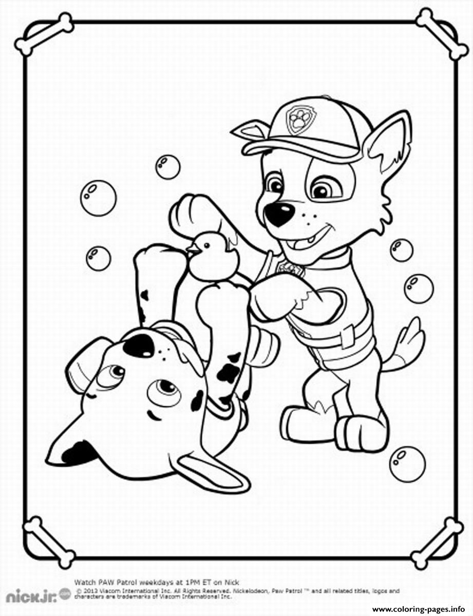 Print Paw Patrol Rocky Play Coloring Pages Art And Craft