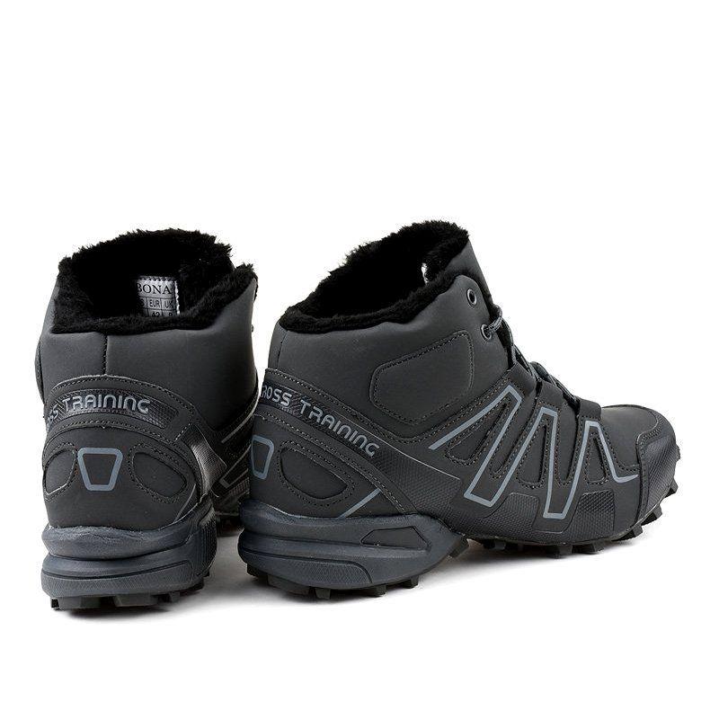 Trekkingowe Meskie Butymodne Szare Obuwie Trekkingowe Ocieplane Bn8810 Trekking Shoes Shoes Hiking Boots