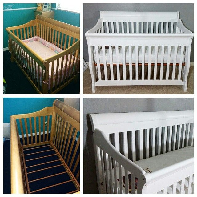 DIY painted crib using #LullabyPaints via Iconosquare – Instagram webviewer