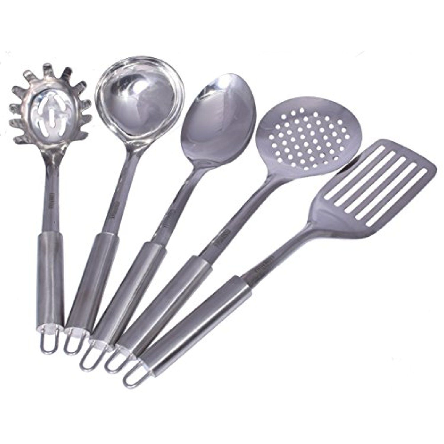 Cuissentials 5 Piece Stainless Steel Kitchen Tools Set Spaghetti