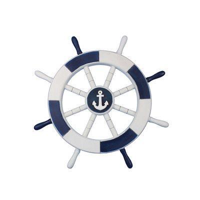 Handcrafted Nautical Decor Ship 18 White Decorative Wheel With Anchor Wall Décor Reviews Wayfair