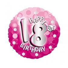 Happy 18th Birthday 18 Foil Balloon All Our Balloons Can Be Made Into