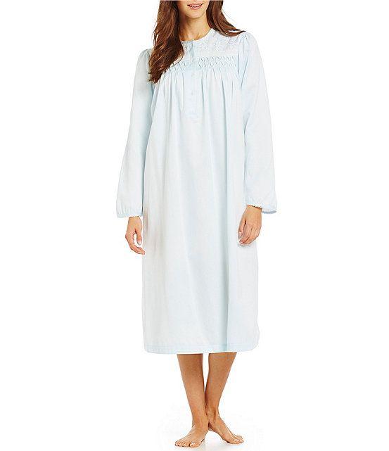 Miss Elaine Petite Brushed Back Satin Smocked Gown  667b962b6