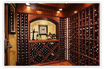 Wine Storage w/ large arch & WineMaker Wine Racks: Meaning For Affordable Wine Cellars | Wine ...