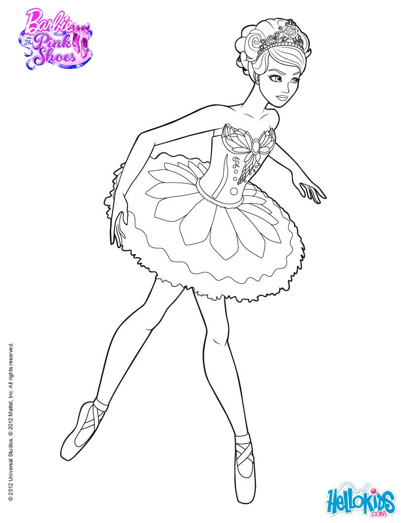 Giselle Main Character Of The Ballet Barbie Printable Coloring