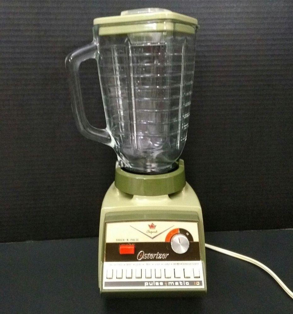 Vintage Imperial Osterizer Blender Pulse Matic 10 Model 854 Avocado Green Oster Vintage Items Vintage Finds Vintage