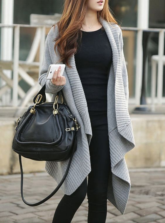 Image result for long gray open sweaters women   Outfits/Style ...