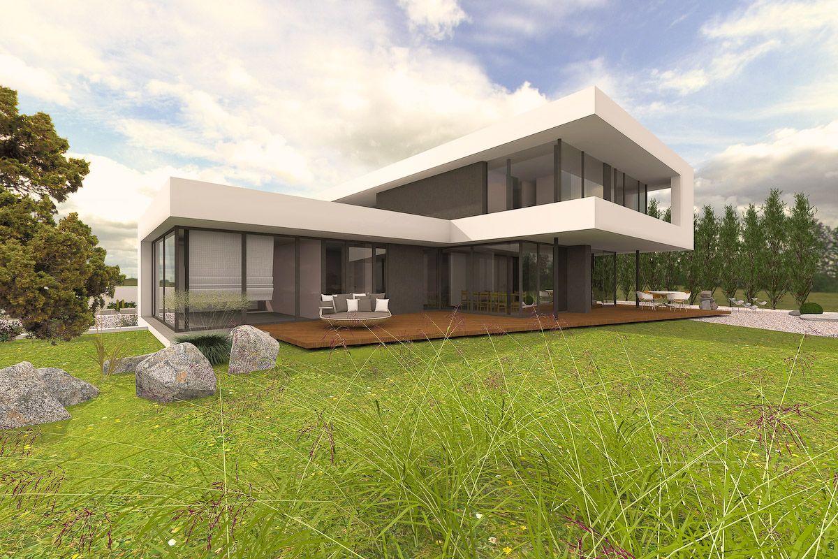 Designhaus mit Flachdach in Sachsen-Anhalt | Architecture, Modern ...