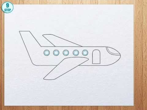 How To Draw A Plane Youtube Art Lessons For Kids Drawing Lessons For Kids Drawing For Kids