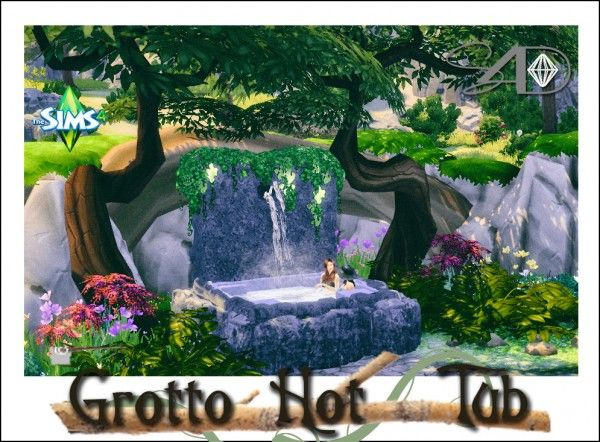 Sims 4 Designs: Grotto Hot Tub converted from TS3 to TS4