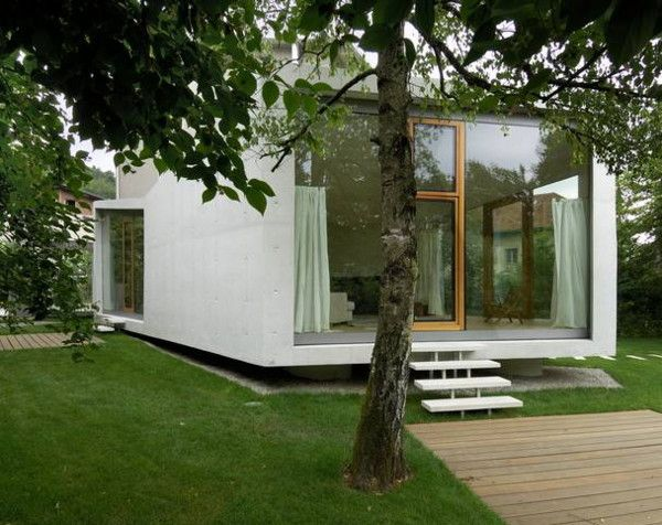 Modern Home Addition is ... in the garden | House | Small house ...