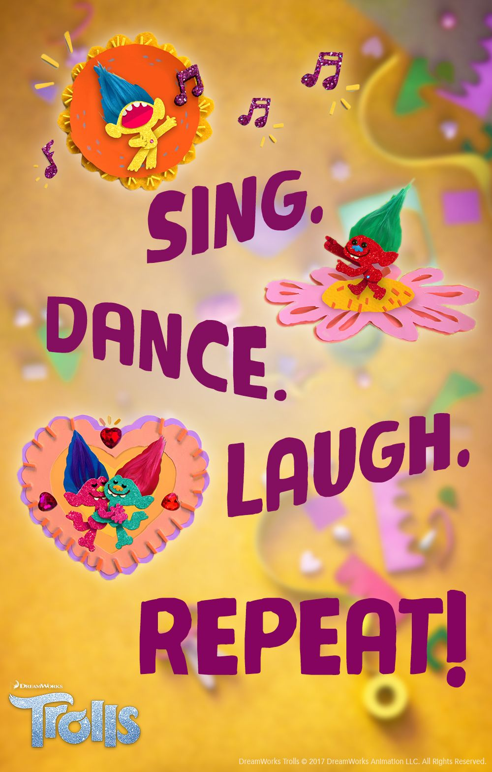 Sing. Dance. Laugh. REPEAT!  BringHomeHappy  KidsParty  PartyIdeas  Dance   DIY  TrollsMovieNight. Find this Pin and more on DreamWorks TROLLS ... 4d3142e53
