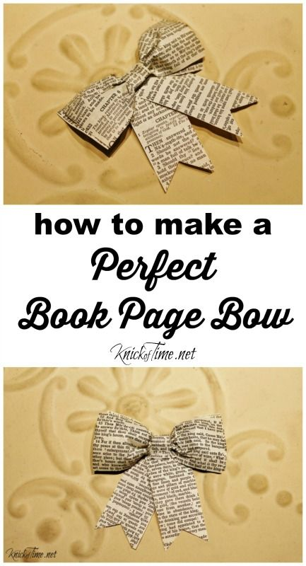 How To Make A Perfect Book Page Bow Bloggers Best Diy Ideas