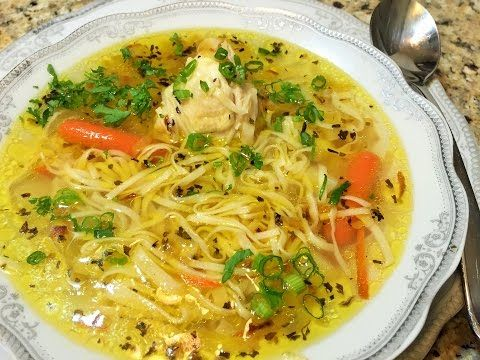 как приготовить домашнюю лапшу суп