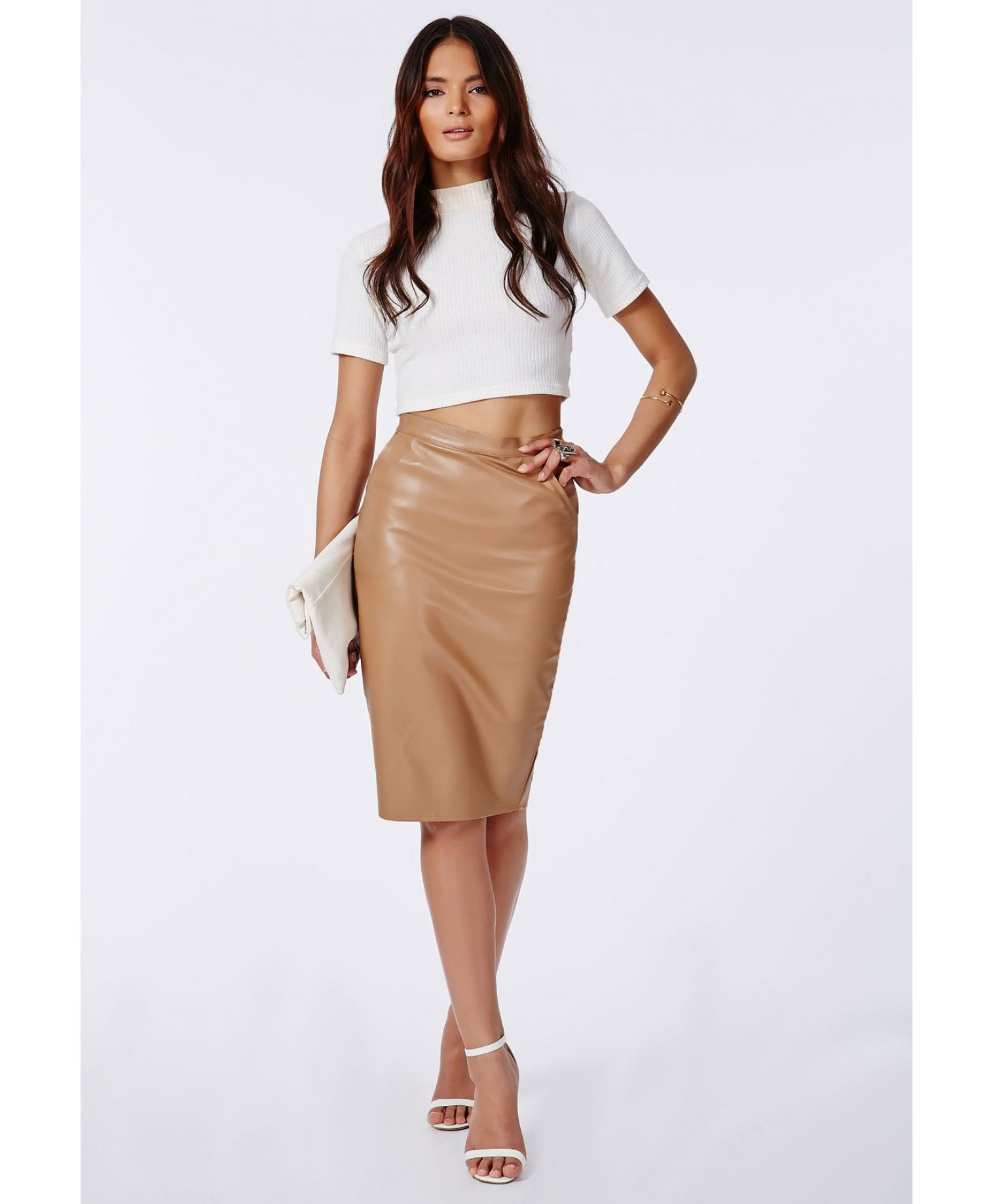 40ae97c6ff3 Missguided Faux Leather Pencil Skirt – DACC