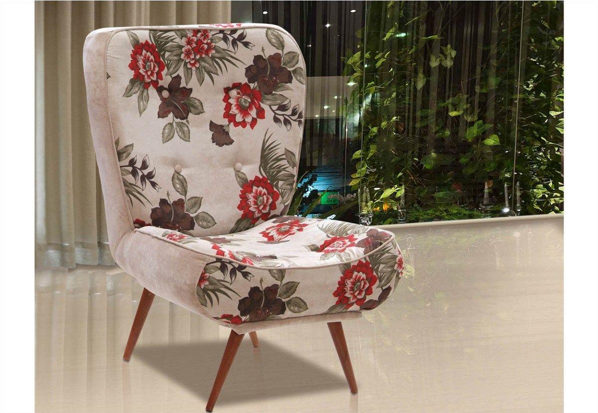 Poltrona Decorativa Tathy Com P S Palito Em Madeira Ibiza  ~ Quarto Pequeno De Menina Moça E Cadeira Para Quarto Casal