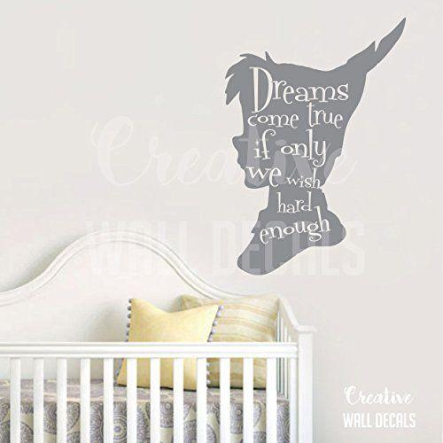 Vinyl Wall Decal Sticker Peter Pan Kids Nursery dreams co… | New ...
