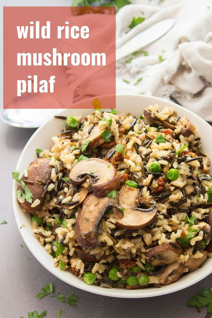 Wild Rice Pilaf with Mushrooms and Pecans - Connoisseurus Veg