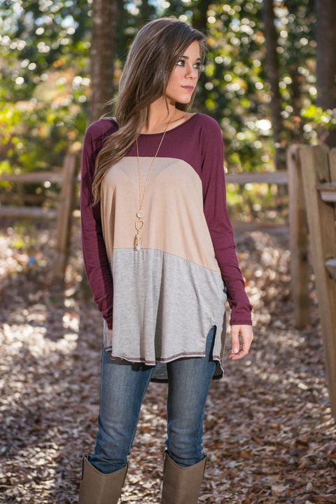 Get Together Tunic, Burgundy