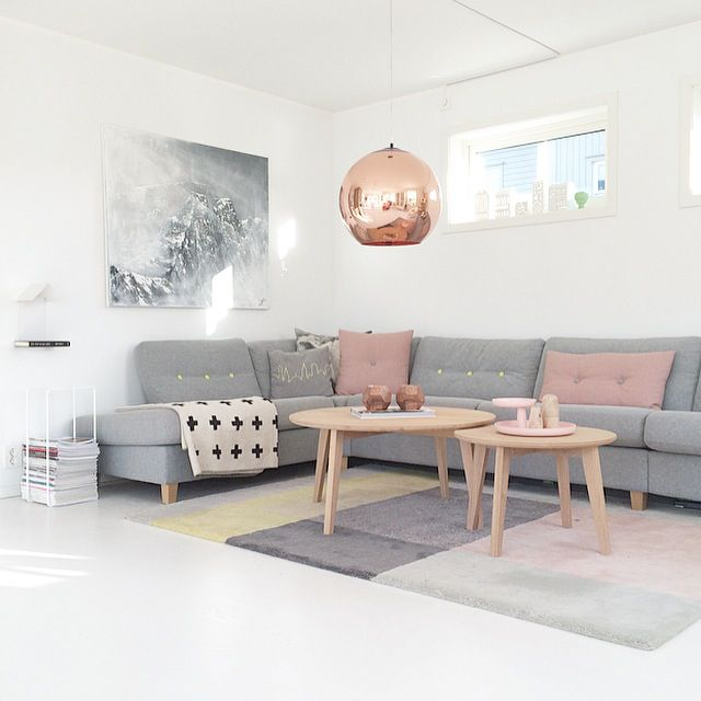 Wohnzimmer ideen graues sofa  graues-Sofa-Wohnzimmer-Ideen | Ideas for a Cozy Living / Dining ...