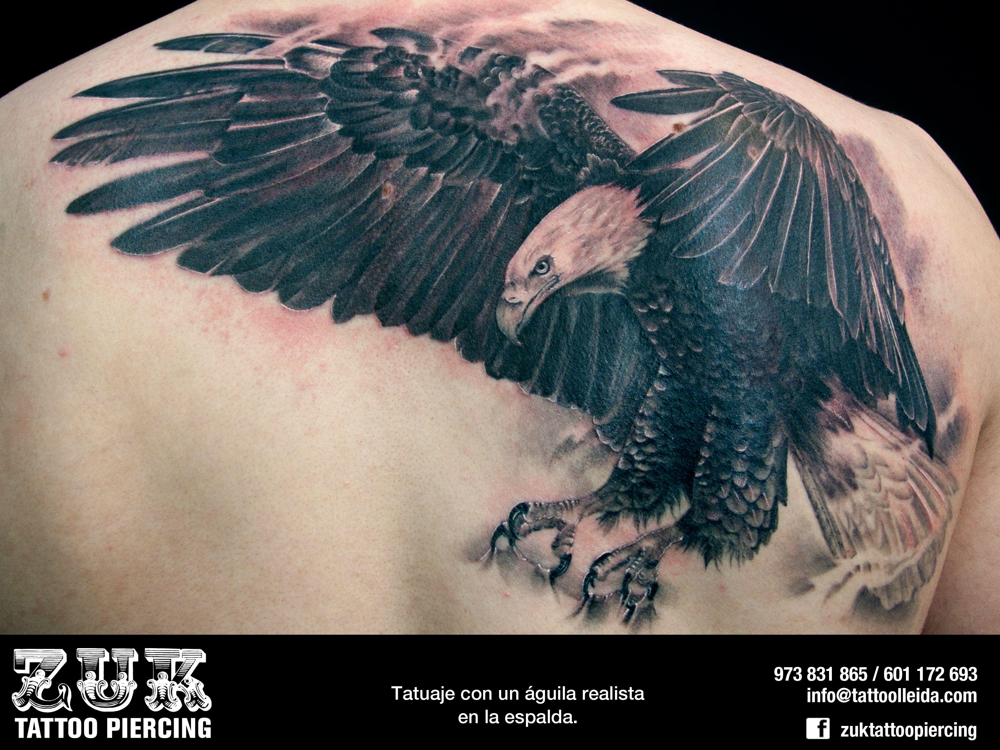 Aguila En La Espalda tatuaje en lleida - zuk tattoo piercing lleida. tatuaje