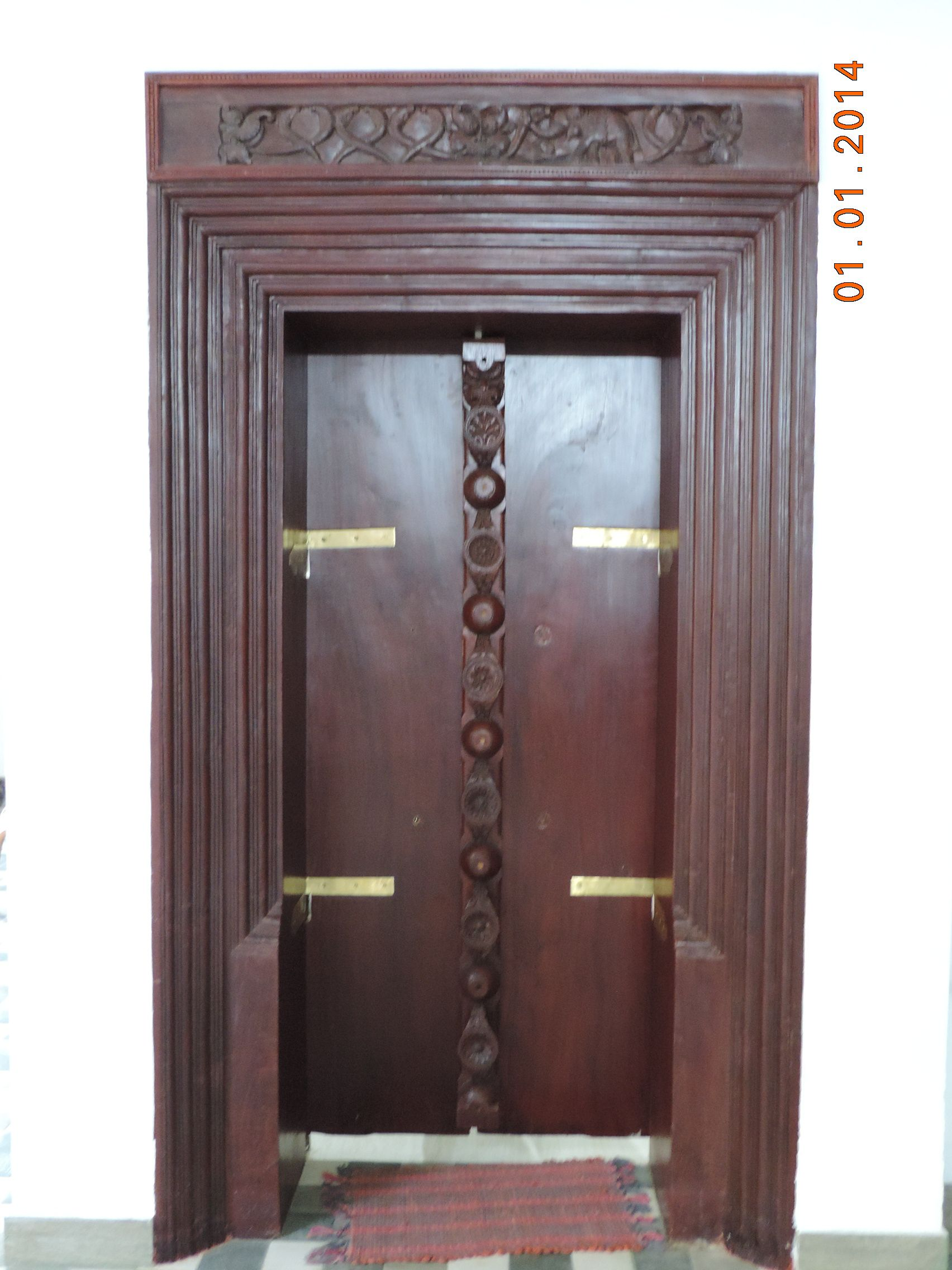 Traditional Kerala Design Of Door And Frame At Our New House In Paadhipara In Kerala Doors Rustic Feel Home