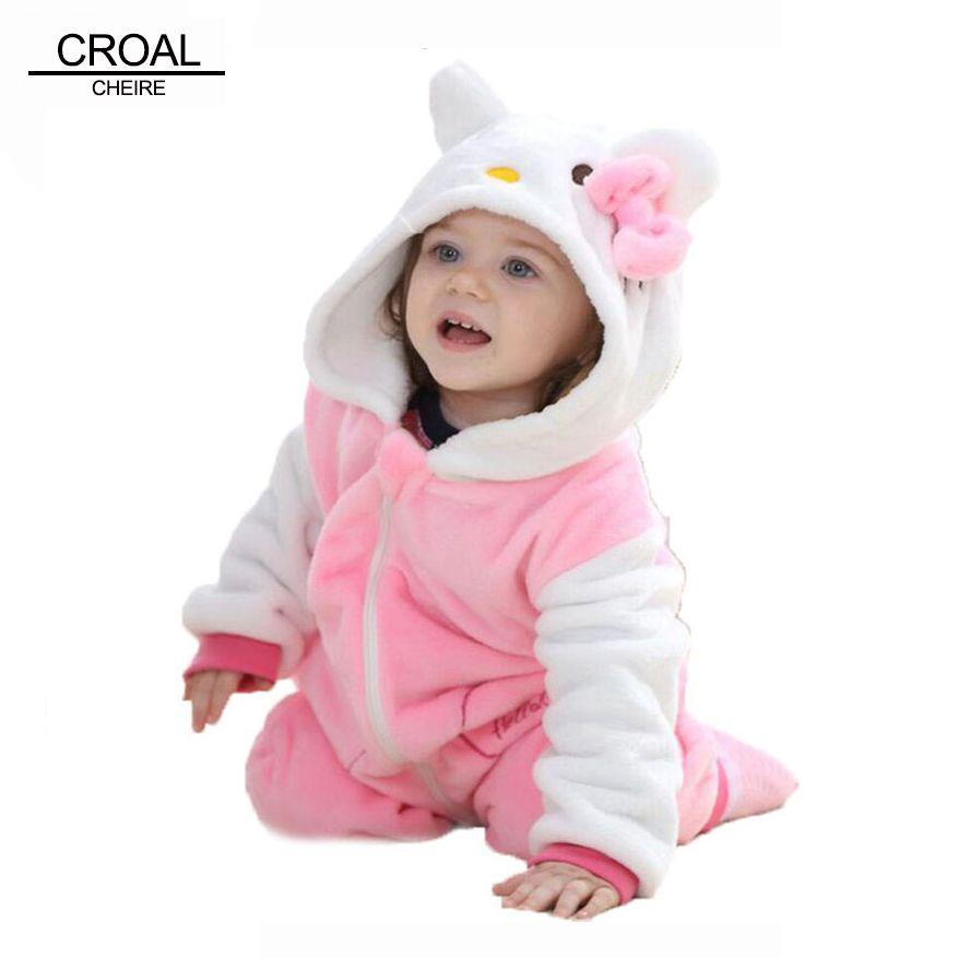 Panda de Kawaii Hello Kitty Niñas Bebés Ropa Animal de Los Mamelucos ...