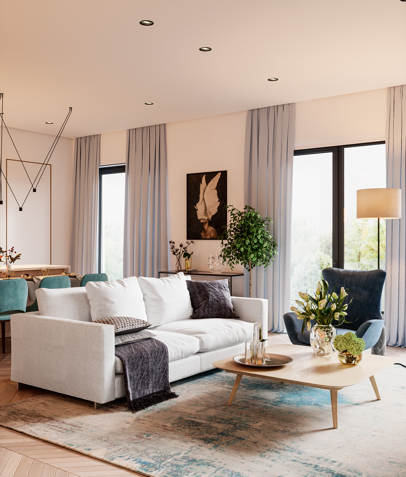Rublevo 3 On Behance Living Room Decor Modern Home Decor Styles Contemporary Furniture Design