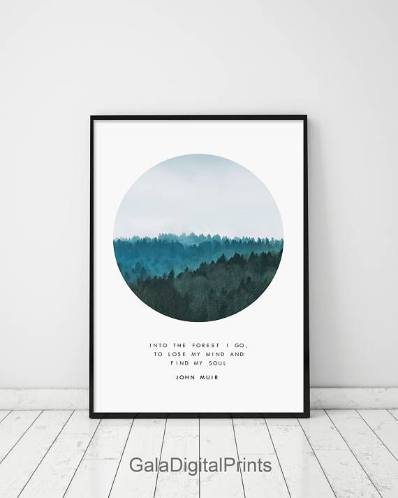 Foggy Forest Foggy Forest Circle Forest Print Forest Foggy