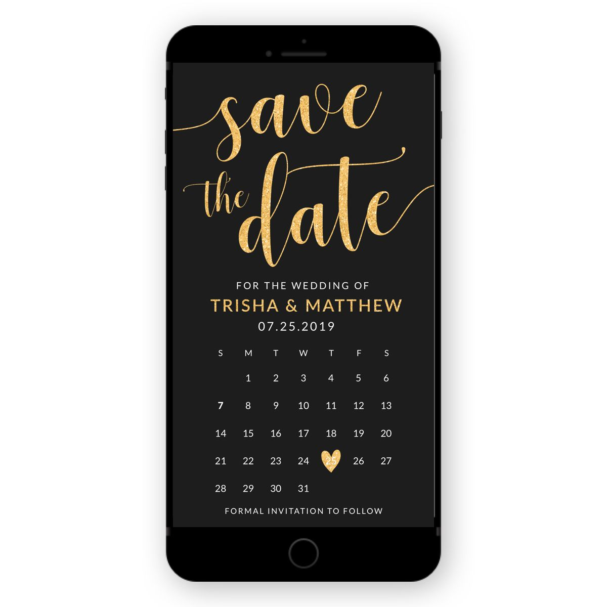 Electronic Save The Date Wedding Invitation Calendar Invite Etsy Electronic Save The Date Wedding Invitation Card Design Wedding Invitations
