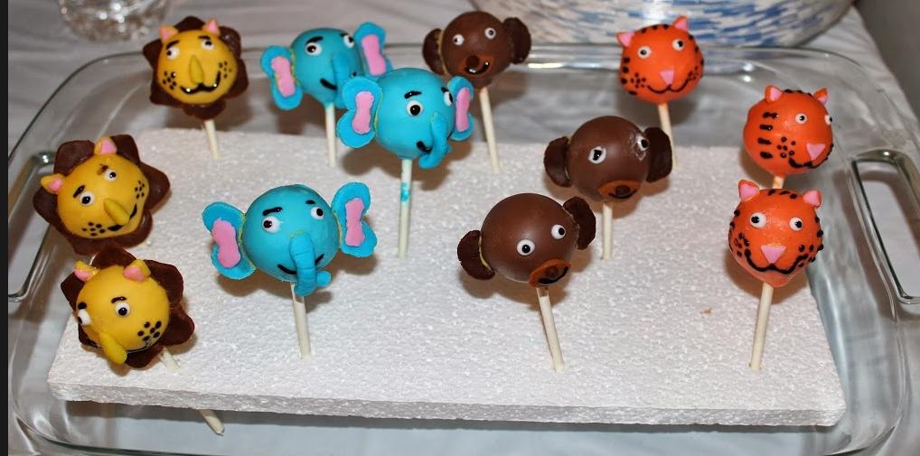 Zoo Animals Cake Pops
