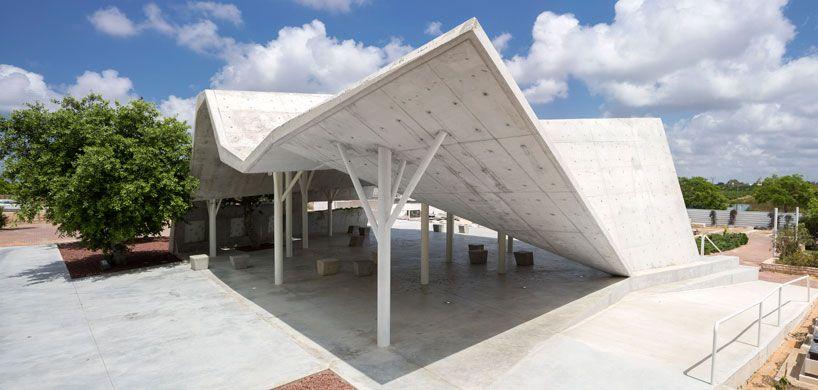 Concrete Folded Canopy Architecture Architecture Design Canopy Architecture