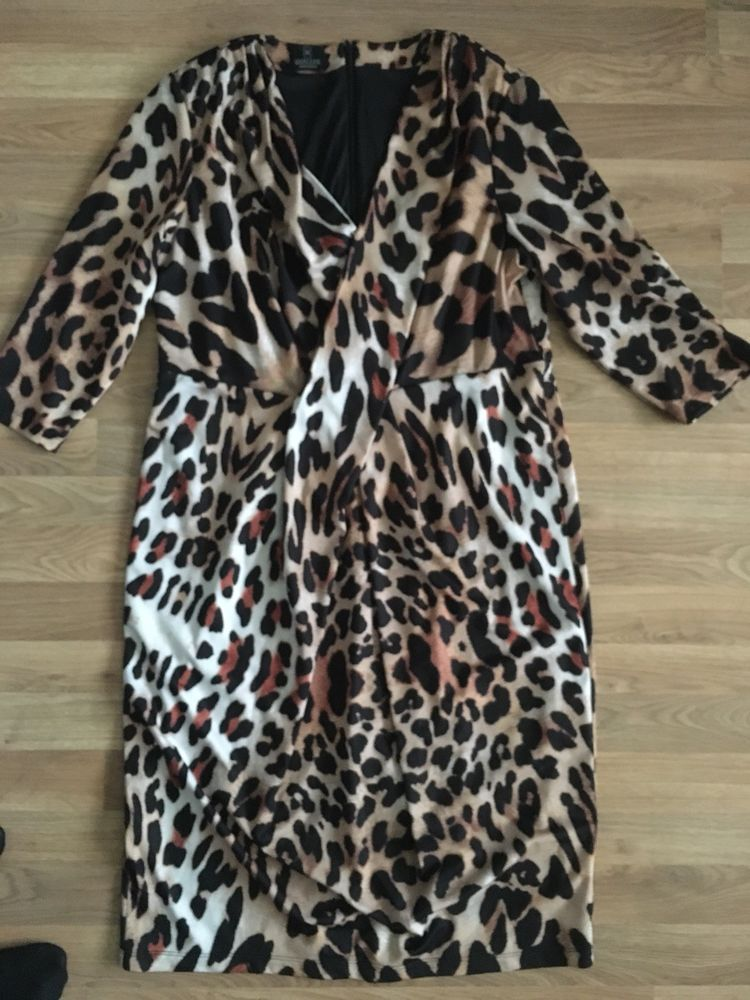 1f396bb495f Ladies Madeleine Animal Print Dress Size 18 Vgc  fashion  clothing  shoes   accessories