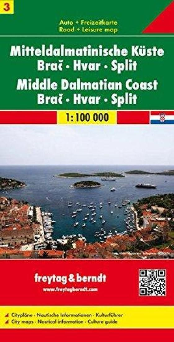 Croatia Middle Dalmatian Coast Brac Hvar And Split By Freytag