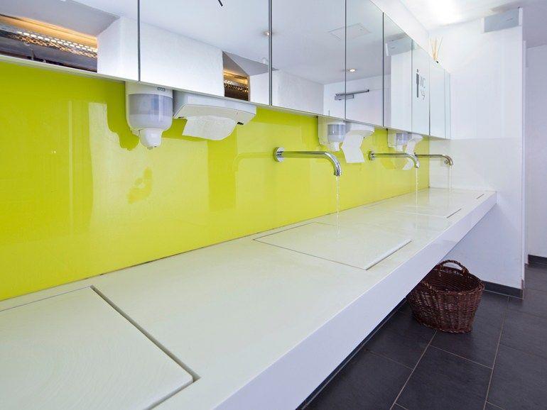 Piano lavabo in Corian® by baqua design Jürgen Klein | Progetti da ...