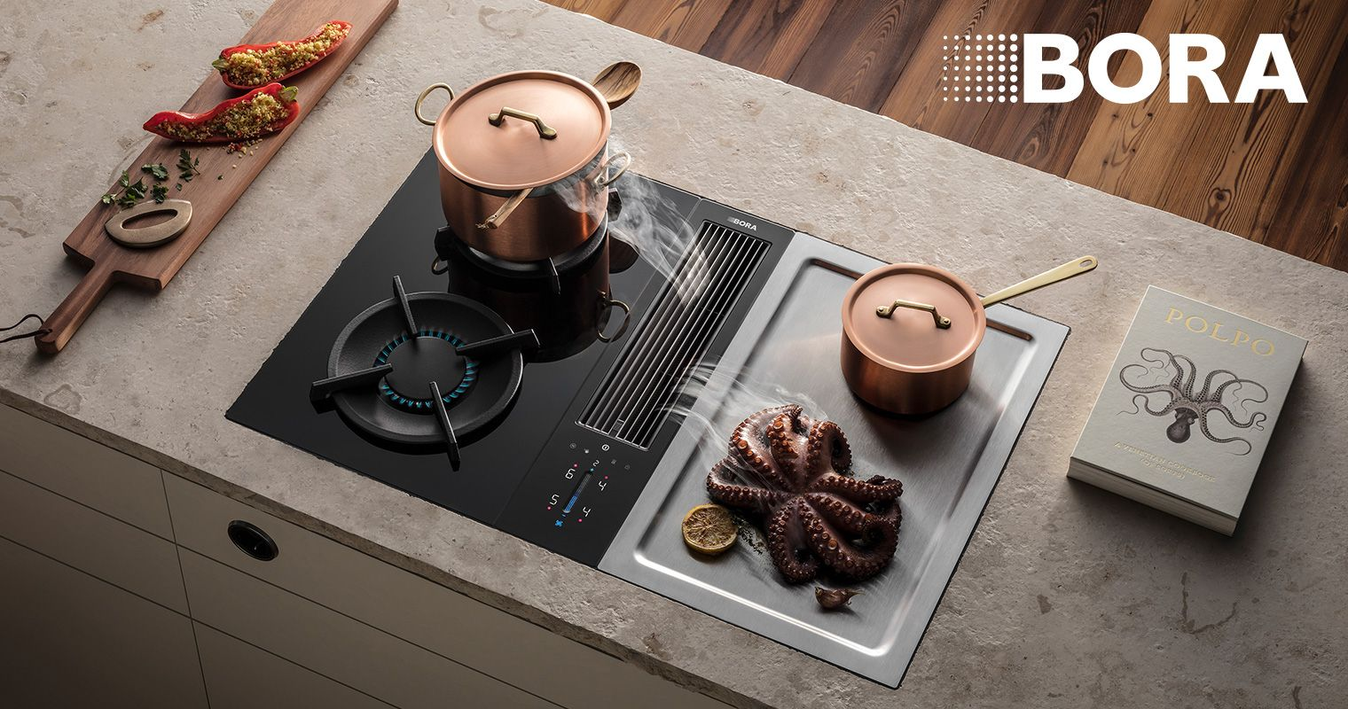 Bora Classic 2 Cooktop With Integrated Cooktop Extractor Piani Cottura Smoothie Fresh