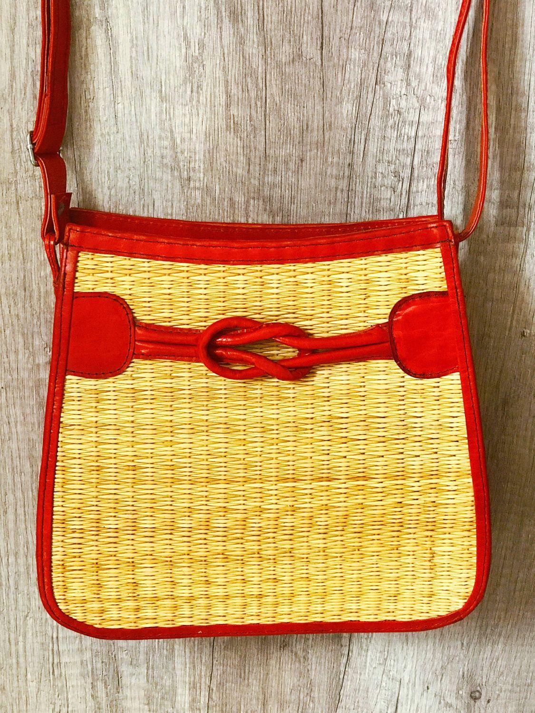 À Naturelles Rouge Fibres Cuiramp; Sac Design Main Knb 0n8OXwPk