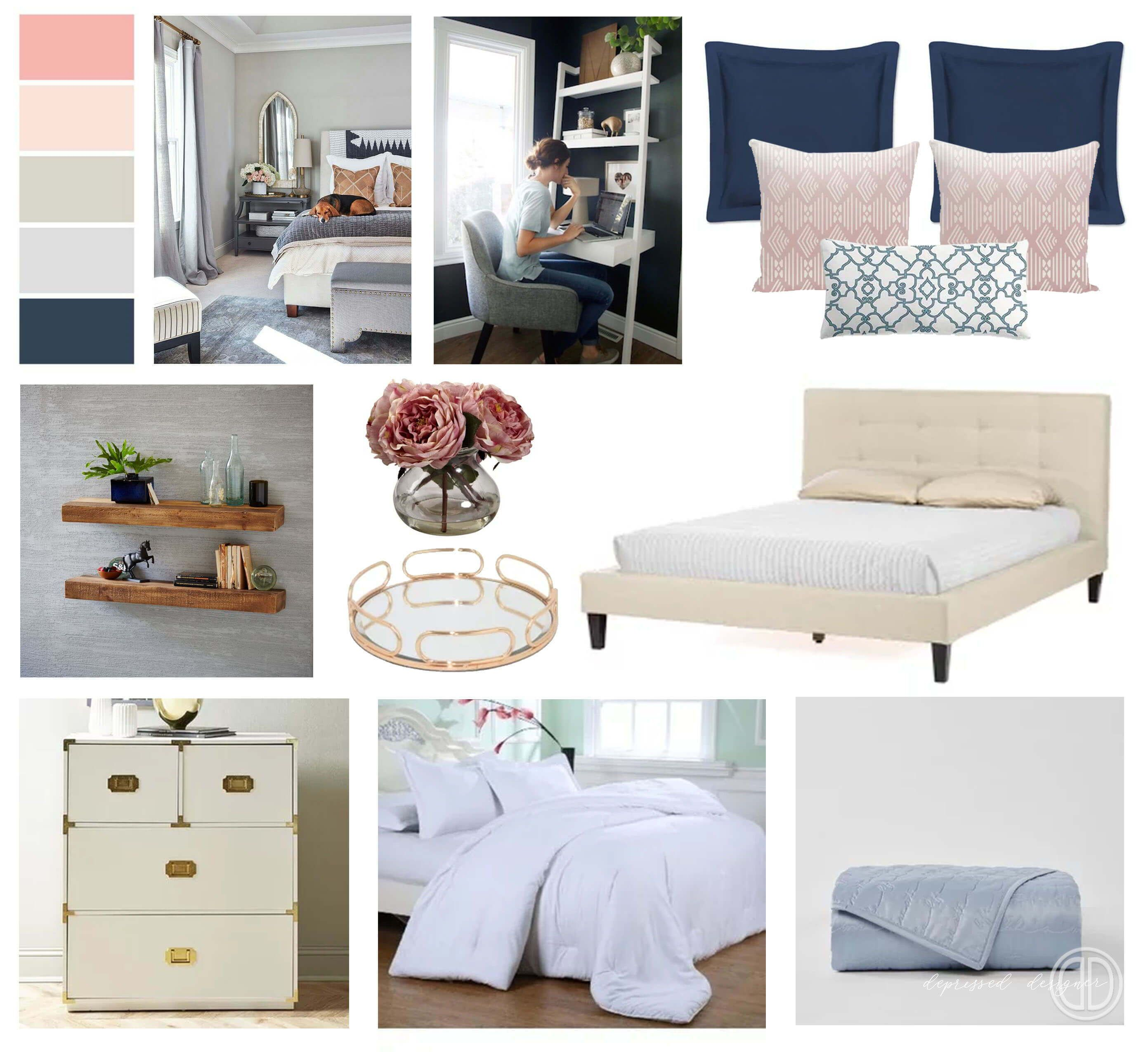 Modern Feminine Bedroom Design