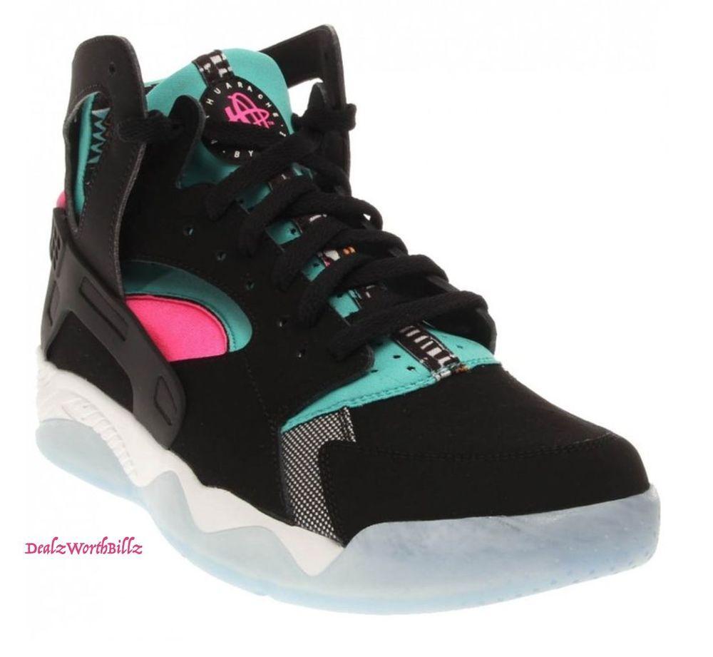 official photos 9c48c 1bf03 kid shoes Nike Flight HUARACHE BLACK LT. RETRO PINK POW GS 705281-003 SIZE  4Y  NIKE  CasualShoes