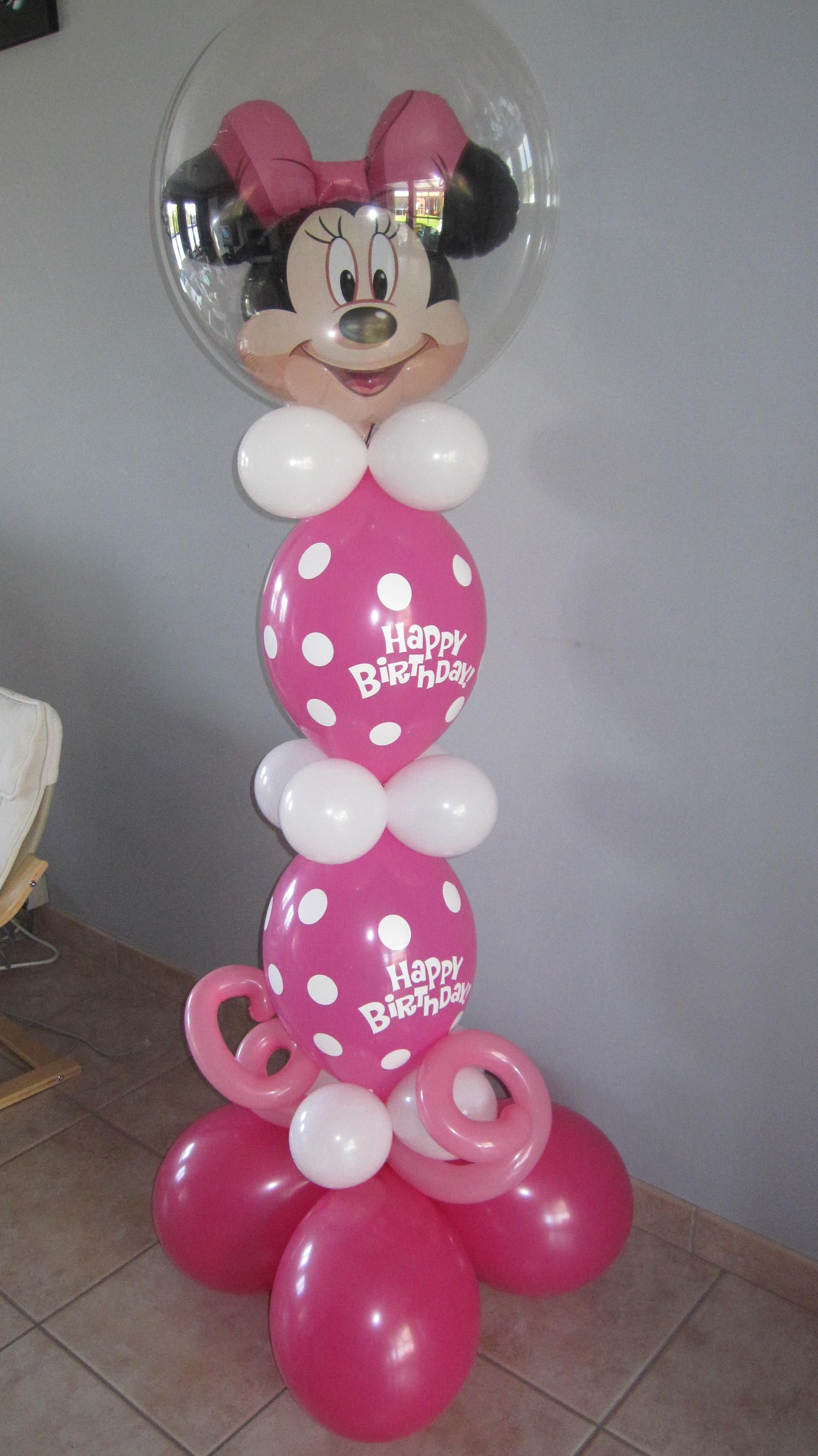 Kindergrime ballonplooien helium for Balloon decoration minnie mouse