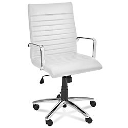 Ribbed Leather Chairs, Fashion Office Chairs In Stock   ULINE