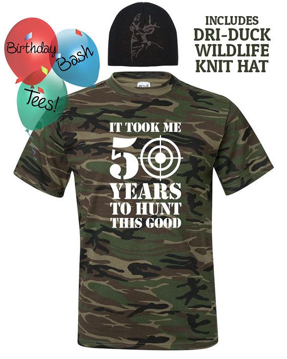 e71ef4e1a53 50th Birthday Gift for Hunter includes by BirthdayBashTees on Etsy ...