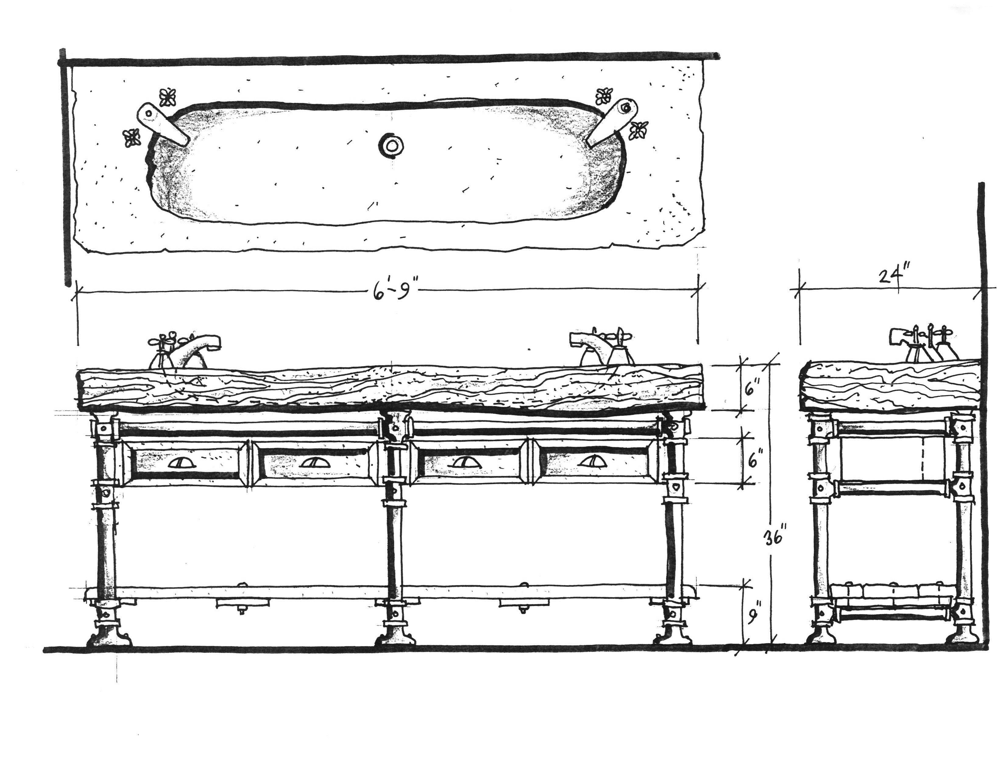 Bathroom Vanity Vanity Design Vanity Ideas Bathroom Ideas Interior Design Drawing Sketch Interior Design Drawings Vanity Design Beautiful Interior Design