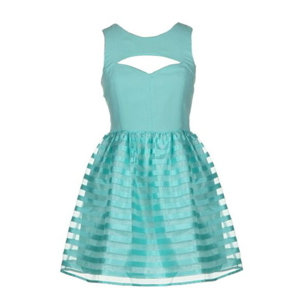 Spearmint Rush Dress ($120) ❤ liked on Polyvore