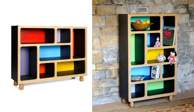 Shelves of colours with modern design | Polos Furniture