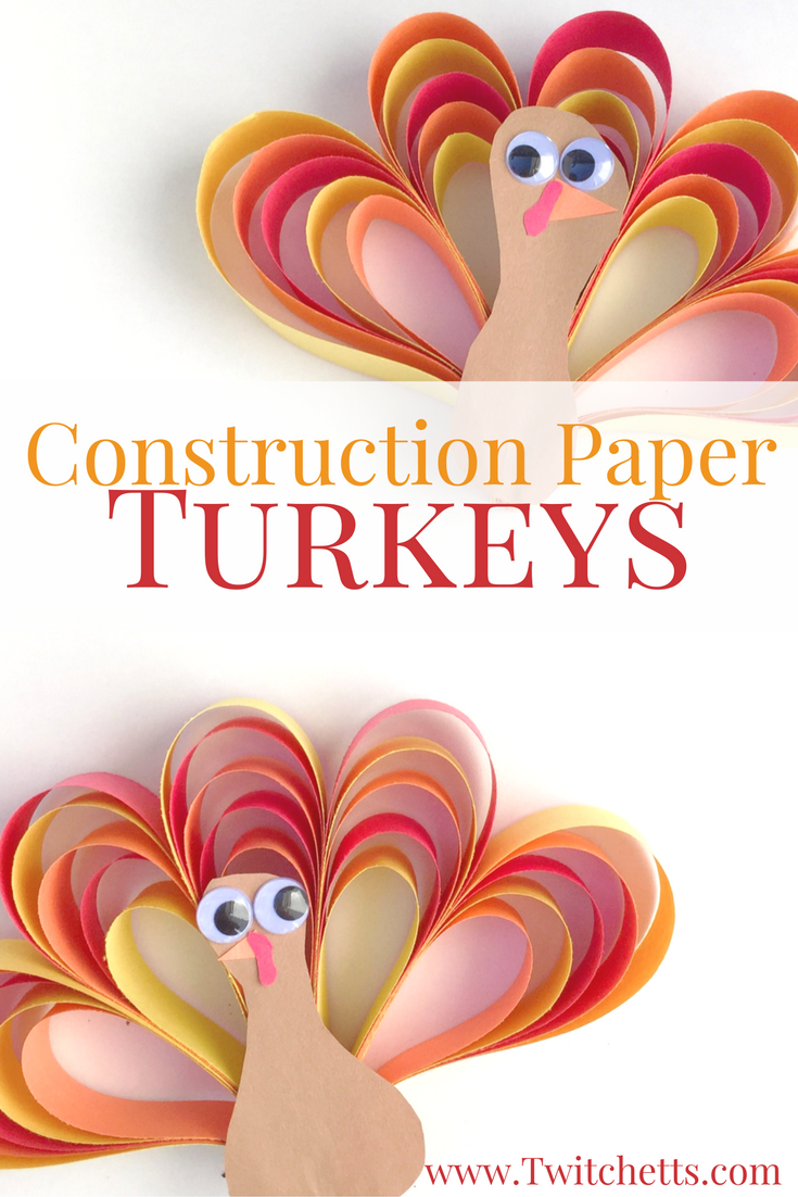 How To Make An Easy 3d Construction Paper Turkey Craft Happy
