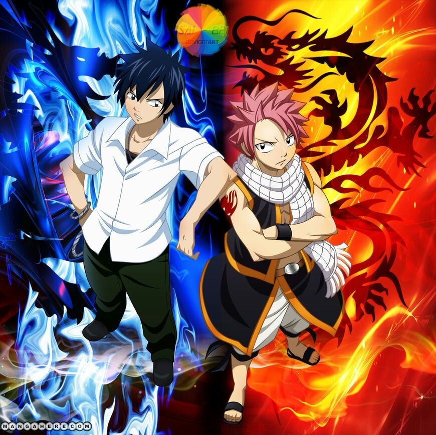 Gray Fullbuster and Natsu Dragnell | Art fairy tail, Image ...