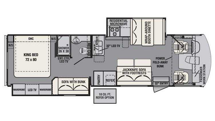 Forest river fr3 32ds class a motorhome rv floor plans